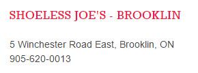 shoeless joes _ address